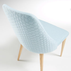 Baker Fabric Dining Chair in Light Blue