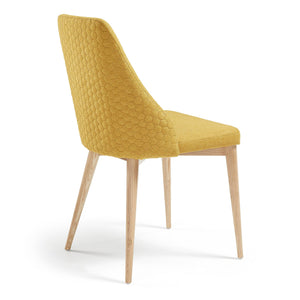Baker Fabric Dining Chair in Mustard
