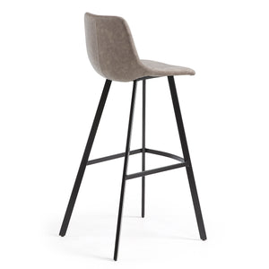 Reece Leatherette Kitchen Bar Stool in Taupe