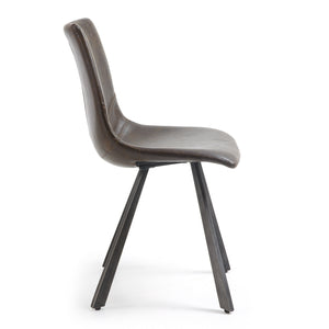 Westin Leatherette Dining Chair in Dark Brown