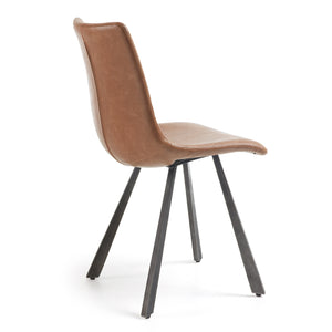 Westin Leatherette Dining Chair in Rust