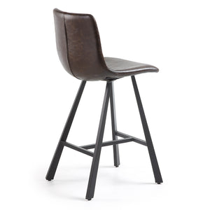 Westin Leatherette Kitchen Bar Stool in Dark Brown