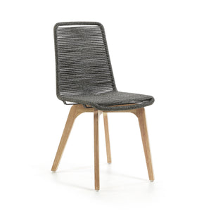 Harry Rope Dining Chair in Light Grey