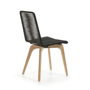 Harry Rope Dining Chair in Dark Grey