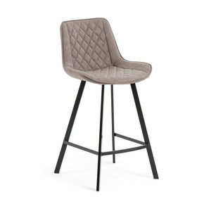 Dexter Leatherette Kitchen Bar Stool in Taupe