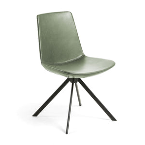 Zayne Leatherette Dining Chair in Green