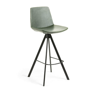 Zayne Leatherette Kitchen Bar Stool in Green