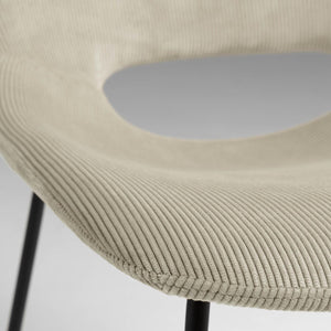 Kye Fabric Dining Chair in Beige Corduroy