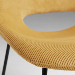 Kye Fabric Dining Chair in Mustard Corduroy