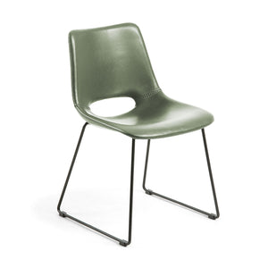 Kye Leatherette Dining Chair in Green