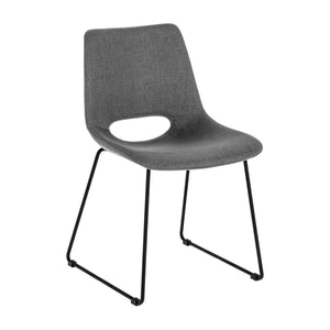 Kye Fabric Dining Chair in Dark Grey