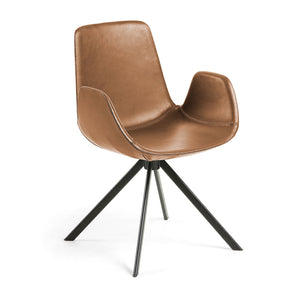 Korbyn Leatherette Dining Chair in Rust