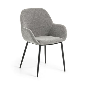 Markus Fabric Dining Chair in Light Grey