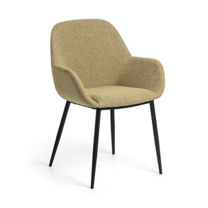 Markus Fabric Dining Chair in Mustard