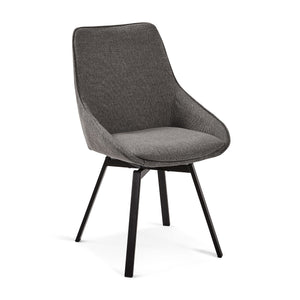 Cayden Fabric Dining Chair in Dark Grey