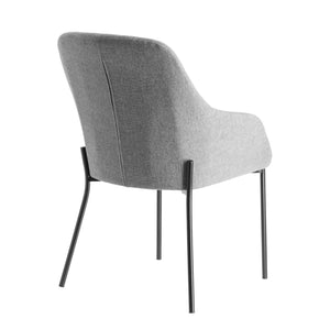 Krew Fabric Dining Chair in Light Grey