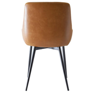 Theo Leather Dining Chair in Tan