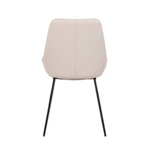Owen Leatherette Dining Chair in Light Grey