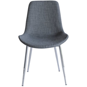 Chase Fabric Dining Chair with Chrome Legs/Grey Seat