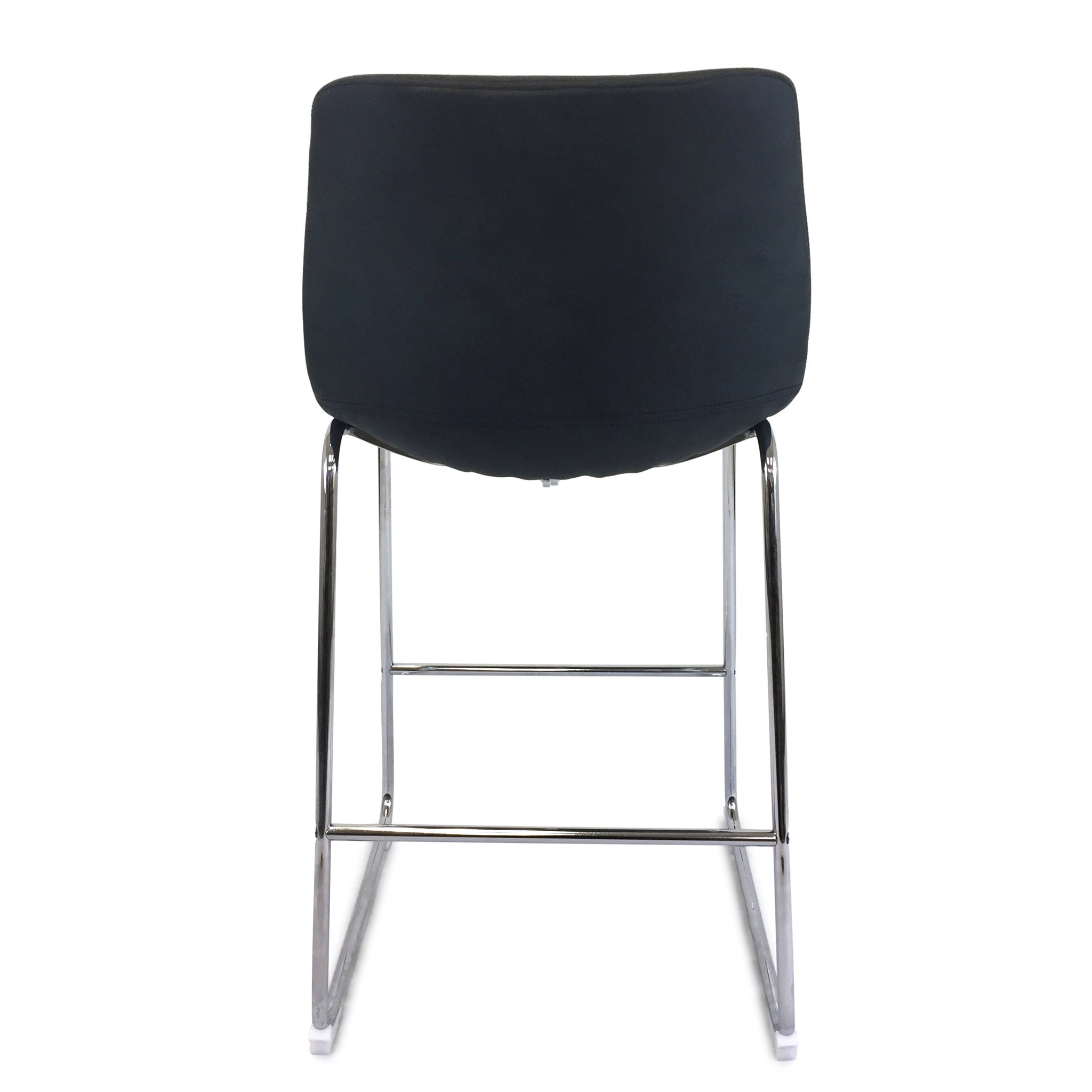 quality design b74ff 0f849 Chase Suede Bar Stool with Chrome Frame/Charcoal Seat
