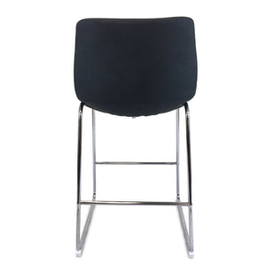 Chase Suede Bar Stool with Chrome Frame/Charcoal Seat