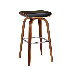 Dallas Bar Stool in Walnut/Black