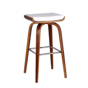 Dallas Bar Stool in Walnut/White