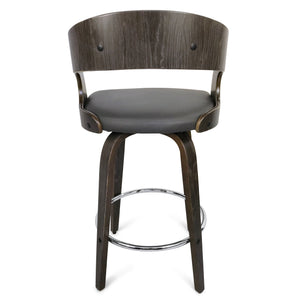 Amy Kitchen Counter Stool in Graphite/Grey