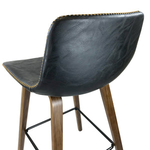 Laurent Bar Stool in Vintage Black