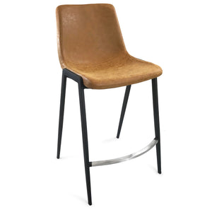 Fletcher Leatherette Bar Stool in Rust
