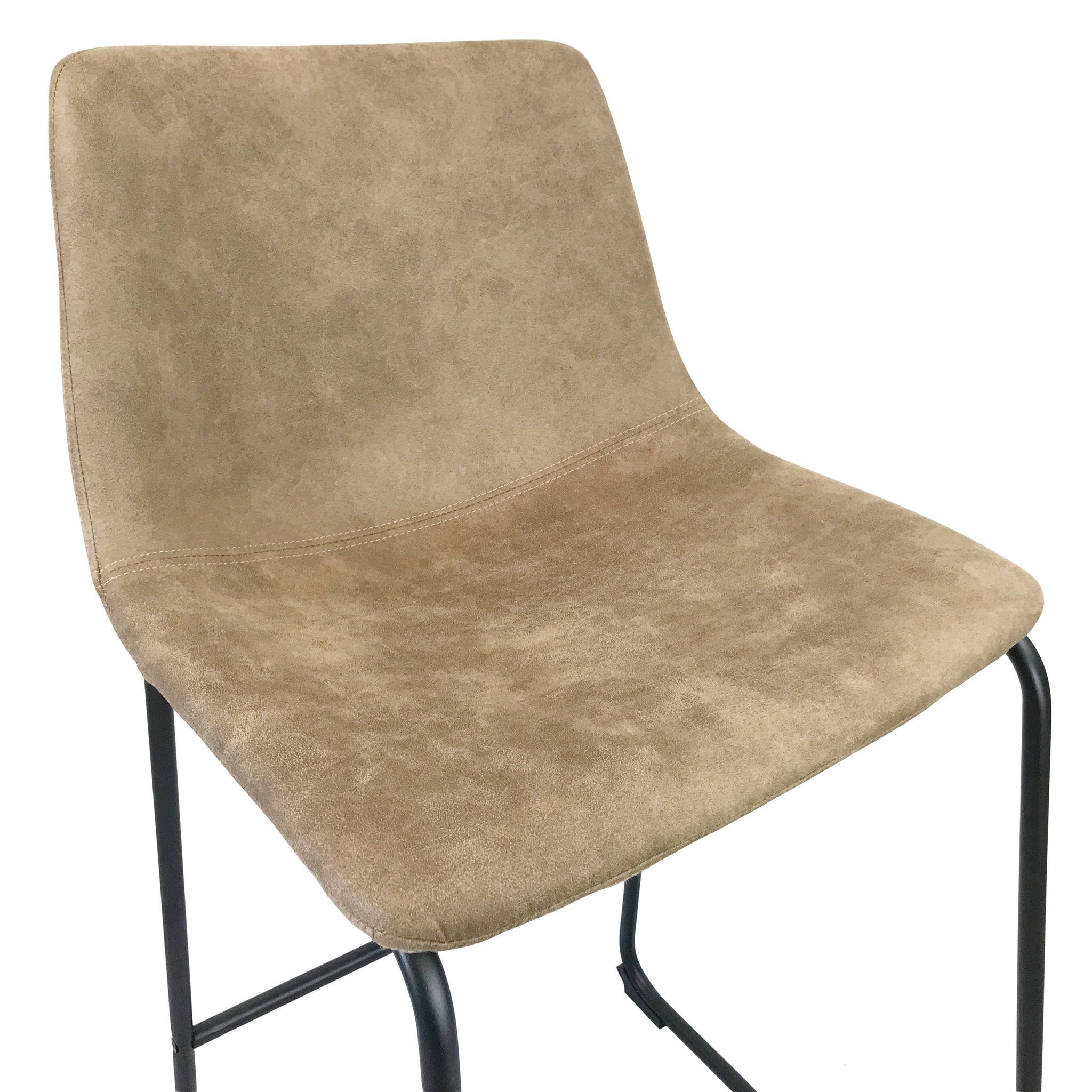 Awe Inspiring Chase Suede Bar Stool With Black Frame Tan Seat Gmtry Best Dining Table And Chair Ideas Images Gmtryco