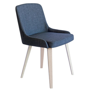 Aubrey Fabric Dining Chair in Oak/Charcoal