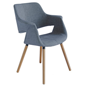 Darcy Fabric Dining Chair in Oak/Light Grey