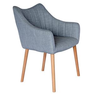 Donovan Fabric Dining Chair in Grey