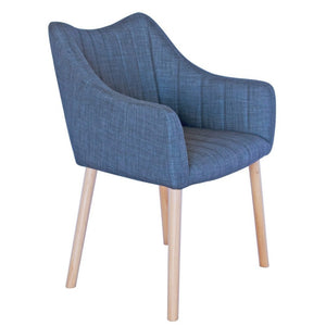 Donovan Fabric Dining Chair in Charcoal
