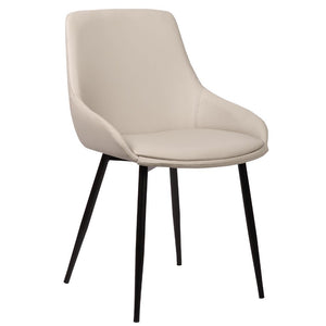 Theo Leatherette Dining Chair in Light Grey