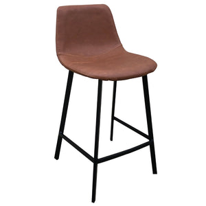 Ezra Leatherette Kitchen Bar Stool in Brown
