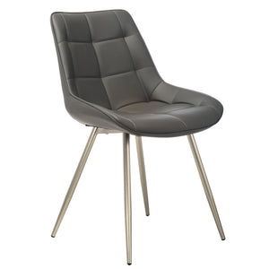 Jaxton Leatherette Dining Chair in Grey