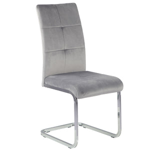 Alora Velvet Dining Chair in Grey