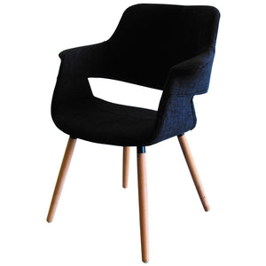 Darcy Fabric Dining Chair in Oak/Charcoal