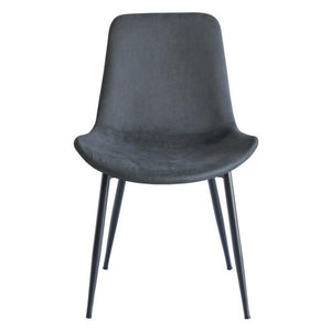 Chase Fabric Dining Chair with Black Legs/Charcoal Seat