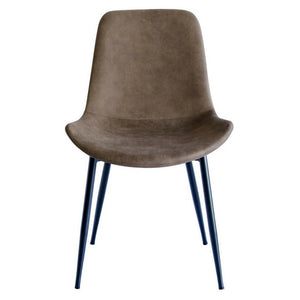 Chase Fabric Dining Chair with Black Legs/Tan Seat