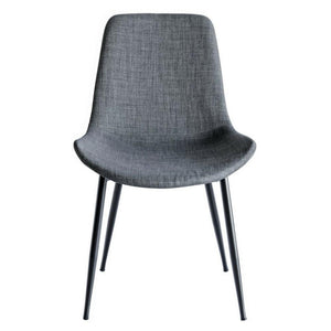 Chase Fabric Dining Chair with Black Legs/Grey Seat