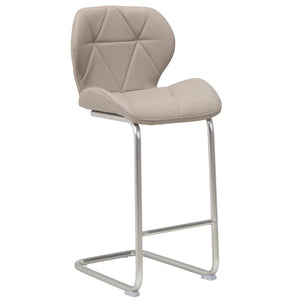 Finn Leatherette Kitchen Bar Stool in Cappuccino