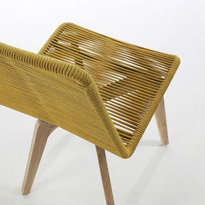 Harry Rope Dining Chair in Mustard