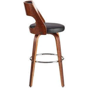 Sabrina 71cm Seat Height Bar Stool in Walnut/Black