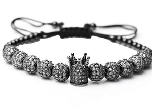 18k Gunmetal Crown Bracelet Half
