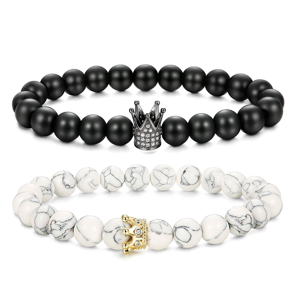 Couples Crown bracelet set