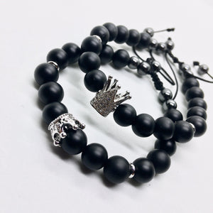 Double Crown Bracelet Set for Couples