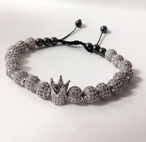 Silver Crown Bracelet Full